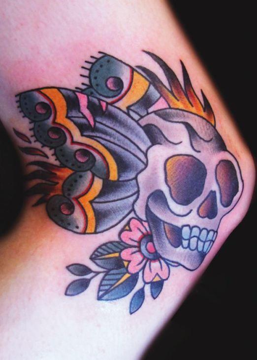 ashley love inkedmagazine butterfly skull tattoo tattoos inked art butterfly tattoos. Black Bedroom Furniture Sets. Home Design Ideas