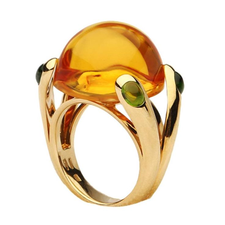 Vedura citrine and tourmaline candy ring - 1stdibs.com