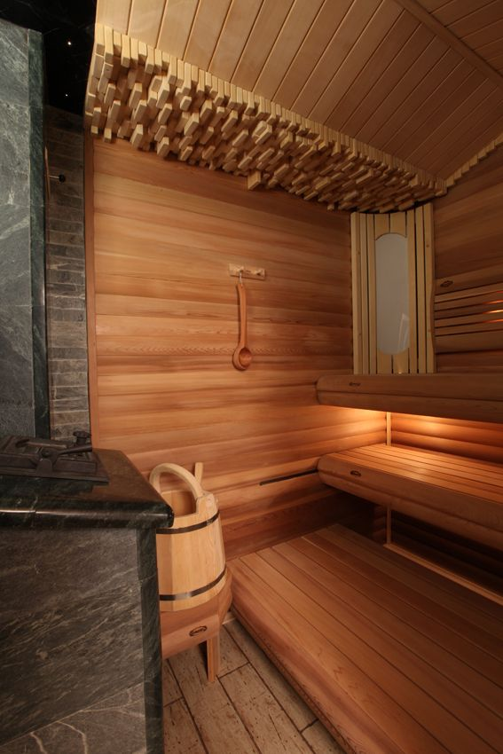 All wood steam room / sauna