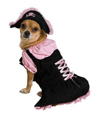 Dog Costumes - Pink Pirate Dog Costume Xtra Small Dog