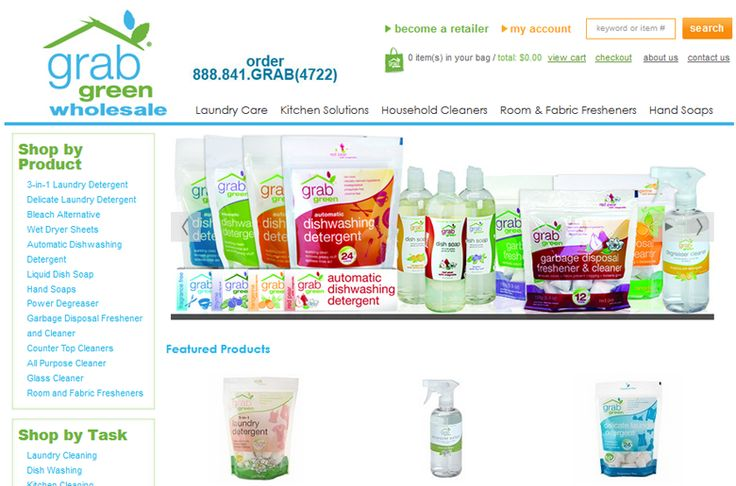 "Chromacor designed and developed Grab Green Wholesale, a 3dCart E-Commerce Store that sells ""green"" cleaning supplies to a wholesale clientele.  We developed Grab Green Wholesale with updated coding including a new top CSS menu and slide show to match their older retail website, http://www.grabgreenhome.com. This website has category pages and products that are accessible only for special customer groups who have been given log-in access at specific price levels."