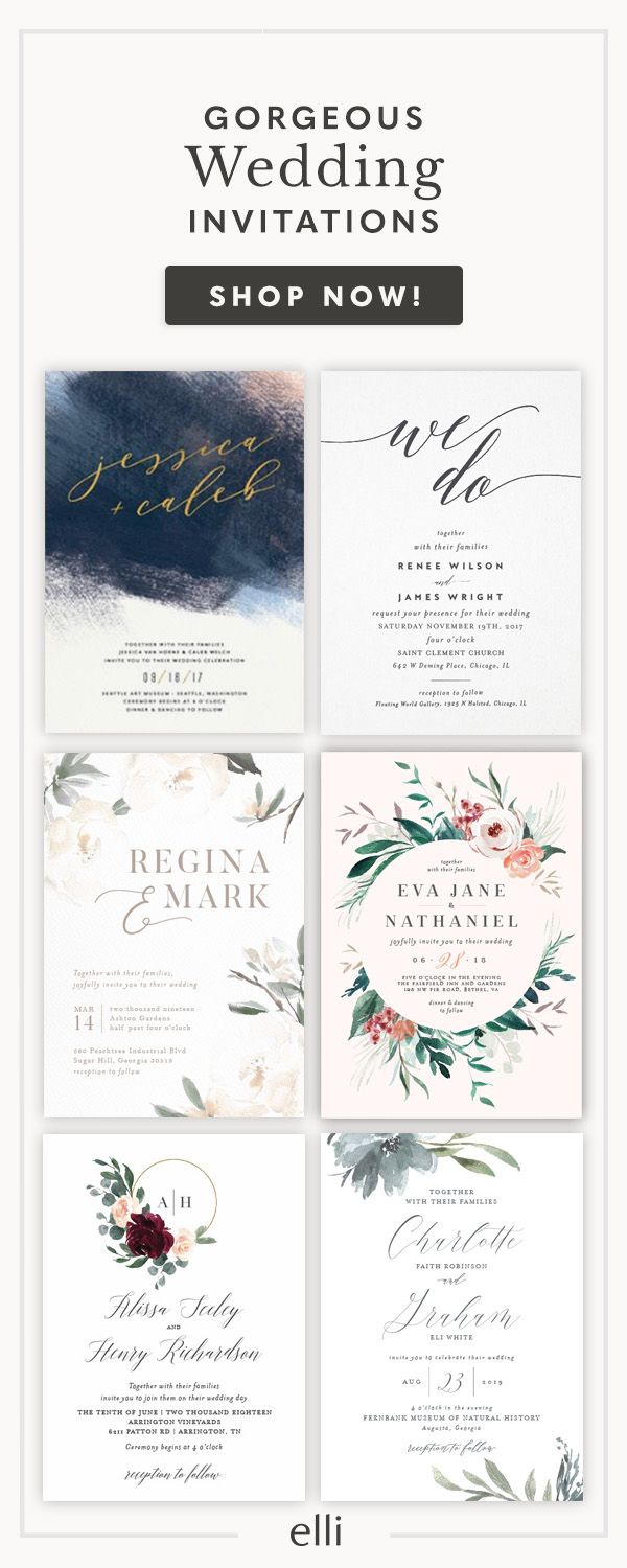 Find Hundreds Of Gorgeous Wedding Invitations At Elli Receive A Free Sample Now Custom And Stationery In 2018
