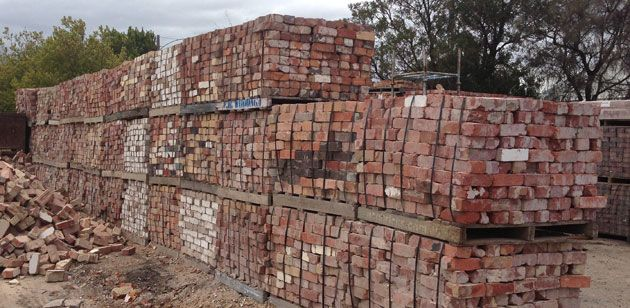 Recycled bricks, Paddys Bricks, West Melbourne.
