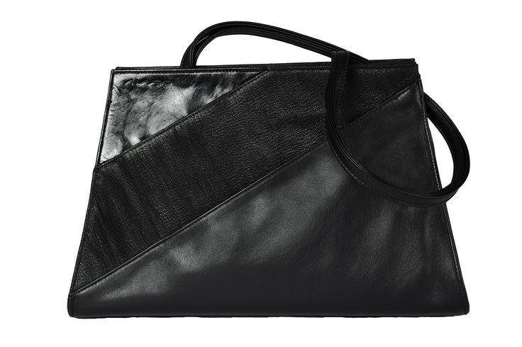 bag - black - leather handtas - zwart - leder sac - noir - cuir www.awardt.be