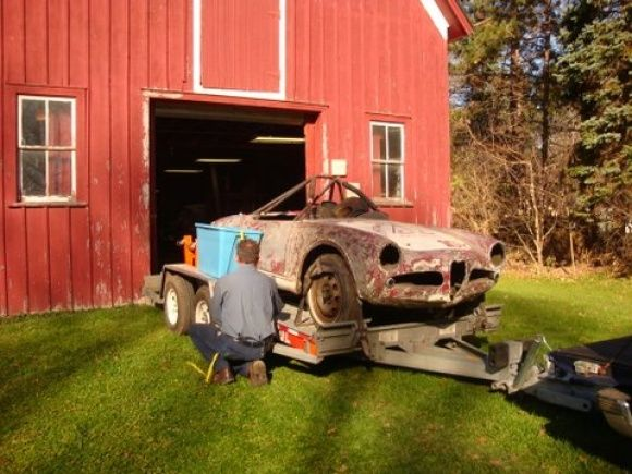 1959 Alfa Romeo 750F Spider SCCA Race Car Barn Find Project For Sale On Trailer