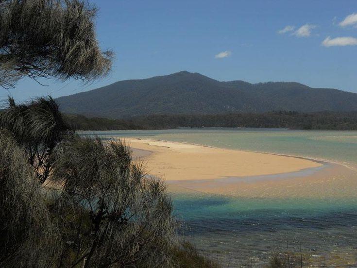 """Ocean meets Lake"" Wallaga Lakemouth Beach/NSW/Australia"