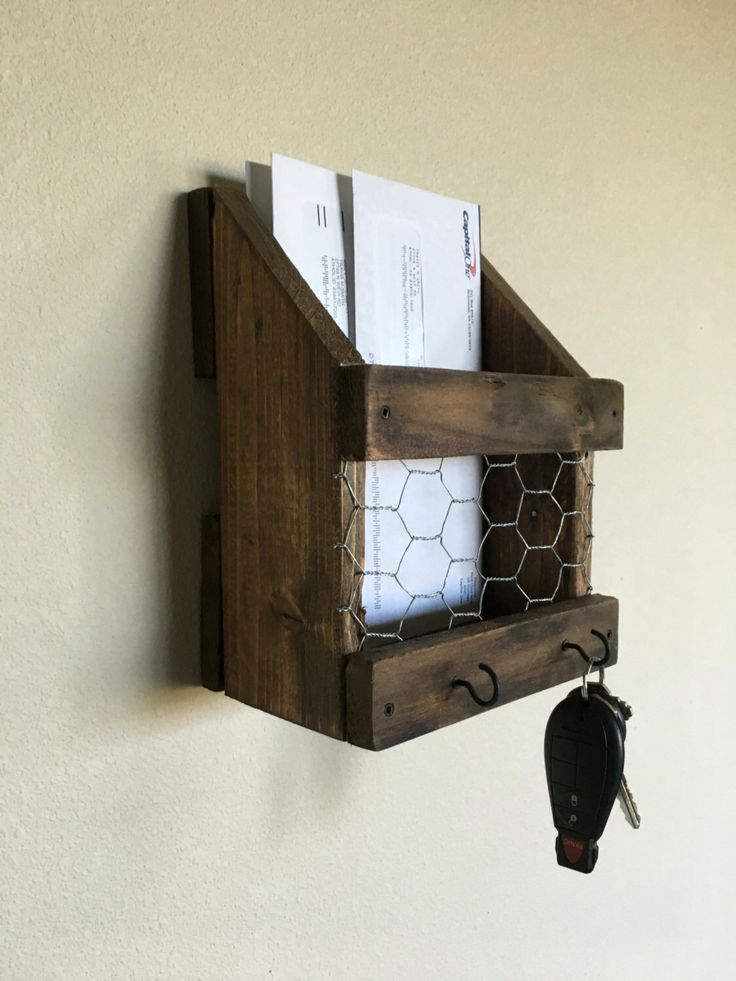1000 ideas about mail and key holder on pinterest mail holder letter holder and mason jar shelf - Wall mounted letter holder and key rack ...