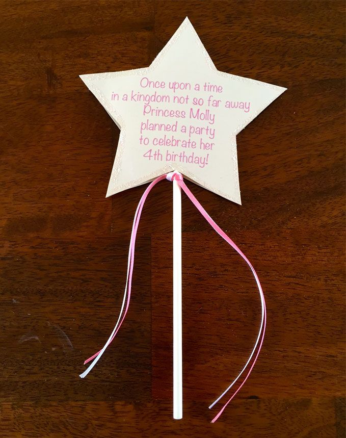 How To Make Fairy Wand Party Invitations  My daughter and I made these princess wands for her 4th birthday party.