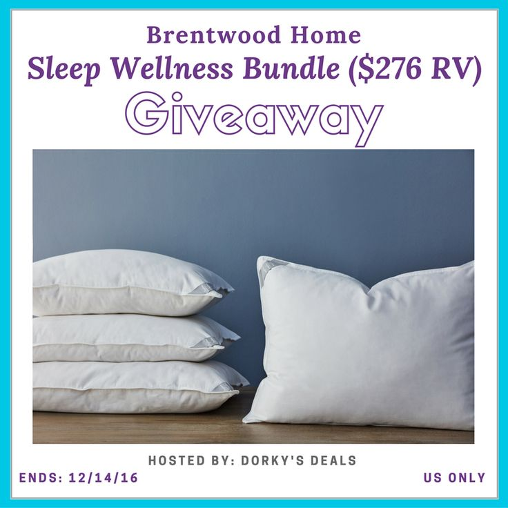 Disclosure: This post is sponsored by Brentwood Home. Host: Dorky's Deals Sponsor: Brentwood Home Open to US residents, ages 18+ only Ends 12/14/16 at 11:59 PM EST Prize:Sleep Wellness Bundle ($276 RV) Sleep Wellness Bundle Includes: (2) Helena Latex Filled Pillows & (2) Carmel Latex Pillows When it comes to luxurious, high-quality bedding and mattresses, …