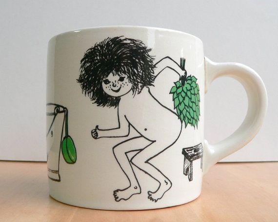 Arabia Finland coffee cup coffee mug Loyly Sauna by VioletQVintage, $45.00