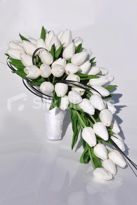 tulip cascade Bouquet | ... 'Fresh Touch' Dutch Tulips & Foliage Cascade Bridal Wedding Bouquet