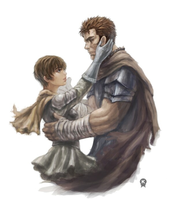 Berserk Art Casca Guts Love