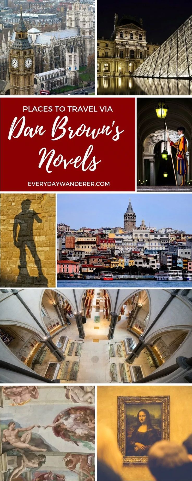 Places to Visit in Dan Brown Novels (from Angels and Demons to Origin)