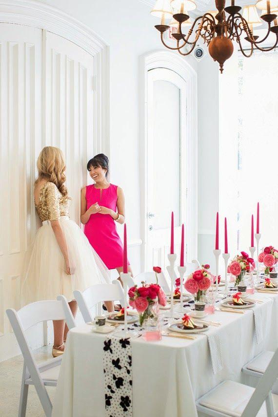 Fiesta de chicas en rosa