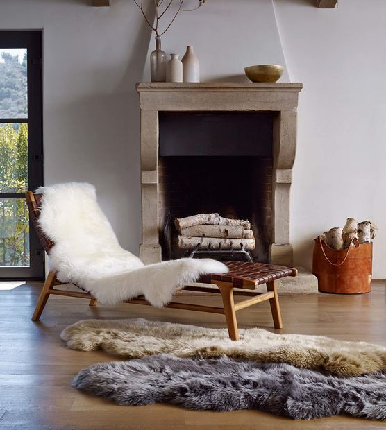 Sheepskin Area Rug Double