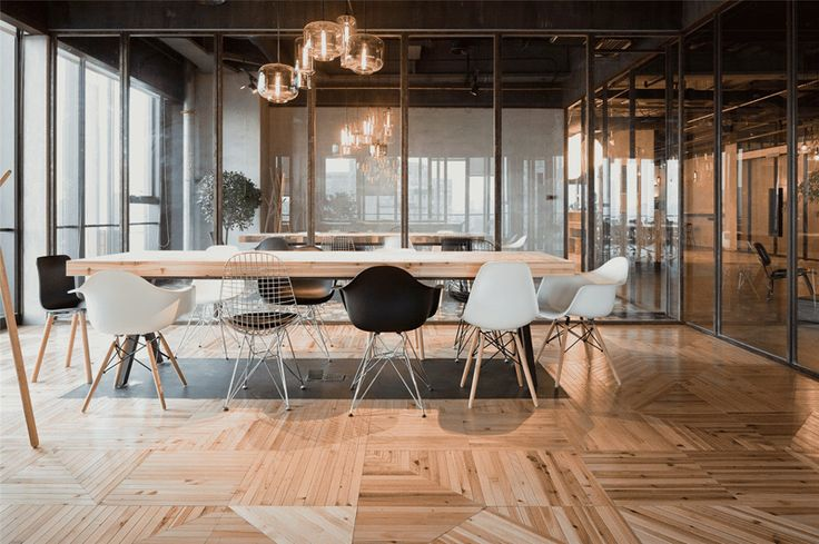LEO headquarters in Shanghai rustic with a Nordic hint