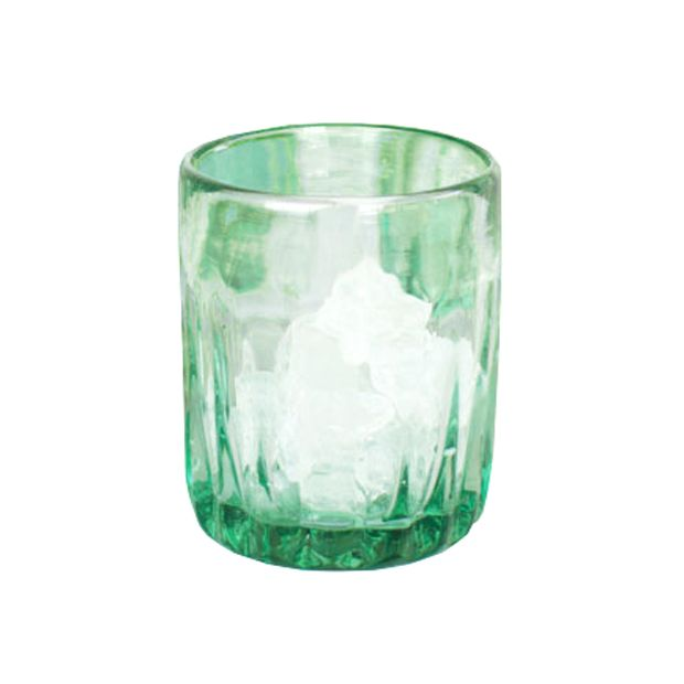 Made from recycled glass bottles, these ribbed juice glasses are the perfect thing for outdoor dining. They're durable and ready for all those summertime cocktails and refreshments.  Find the Green Goddess Juice Glasses, as seen in the Reclaimed for You Collection at http://dotandbo.com/collections/reclaimed-for-you?utm_source=pinterest&utm_medium=organic&db_sku=89815