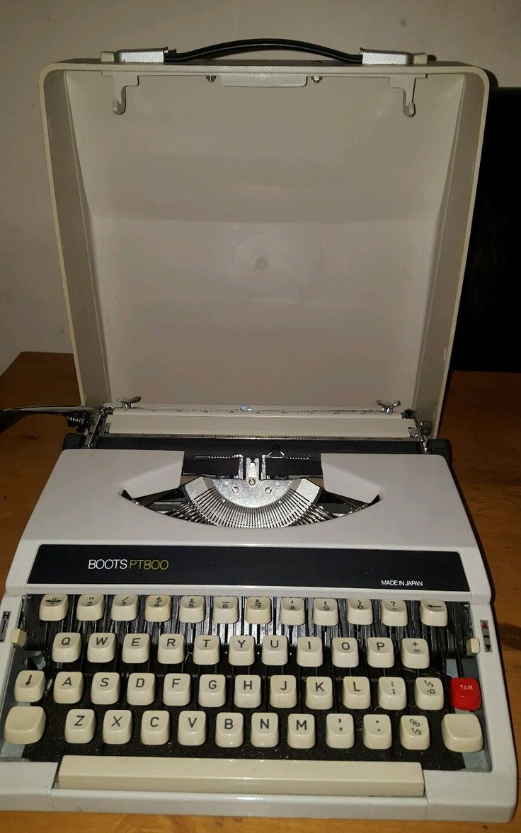 Vintage Boots Pt800 Portable Typewriter With Carry Case FOR SALE • £30.00 • See Photos! Money Back Guarantee. Retro boots PT800 typewriter with a hard carry case. Please check out my other items too. 182299421495