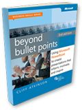 Cliff Atkinson's Beyond Bullet Points site is a companion to his book about creating more effective, image-based PowerPoint. I recommend the site and book to EVERYONE who uses slides in their presentations. Yes, I mean YOU!