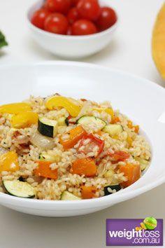 Healthy Dinner Recipes: Roast Vegetable Risotto. #HealthyRecipes #DietRecipes #WeightlossRecipes weightloss.com.au