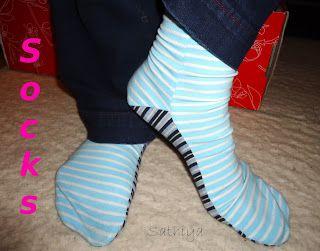 Socken nähen aus zwei Teilen