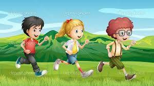 Resultado de imagen para niños corriendo dibujo animado