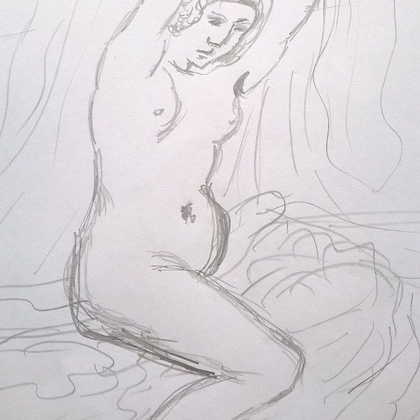 It was practices of drawing ;-) #guercino #sketch #art #picture #woman #nude #act #sylchra