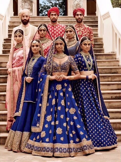 The lehenga in the front