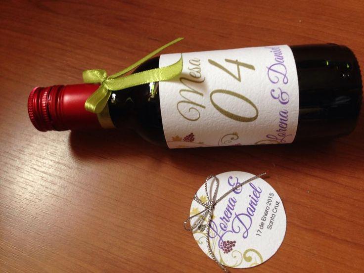 Matrimonio Daniel & Lorena Marcador de Vino + Etiqueta