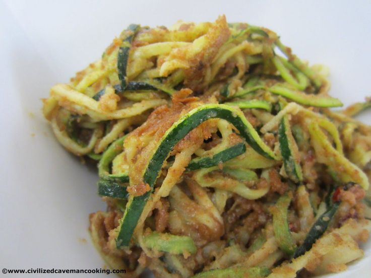 Almond Zucchini Saute | Civilized Caveman Cooking Creations #paleo #zucchini #paleosides