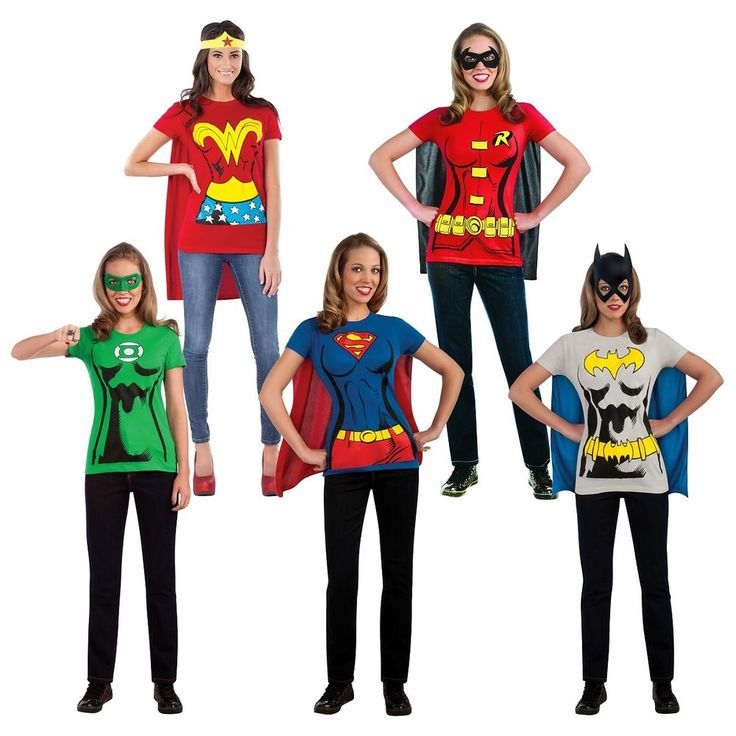 Female Superhero Costumes Adult T-Shirt Halloween Fancy Dress #RubiesCostumeCoInc