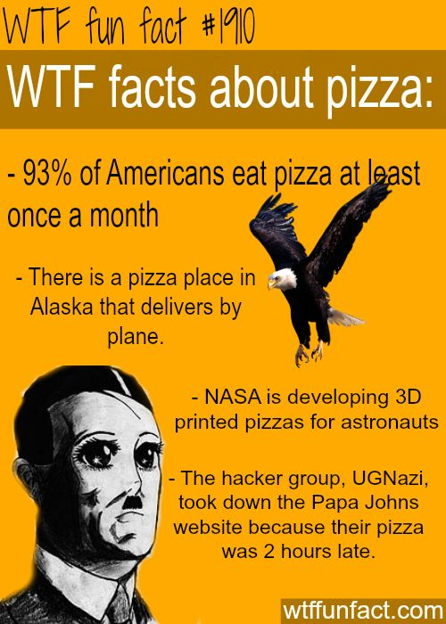 facts about pizza -WTF fun facts- Now I want to eat pizza (-_-)