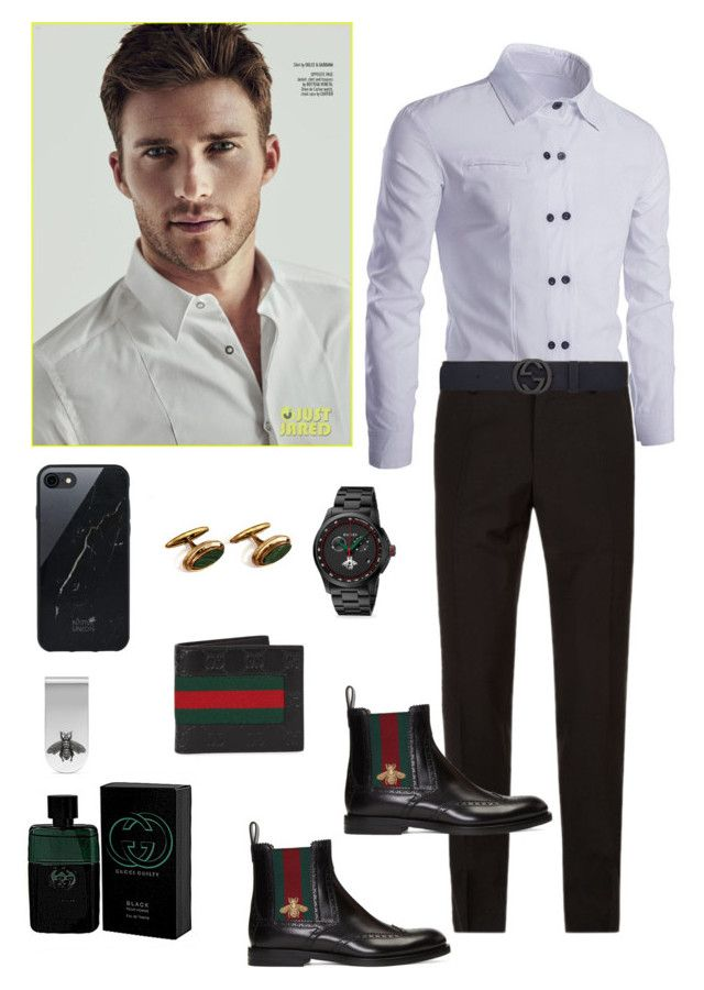 """Untitled #582"" by lianatzelese on Polyvore featuring Gucci, Dolce&Gabbana, Native Union, men's fashion and menswear"