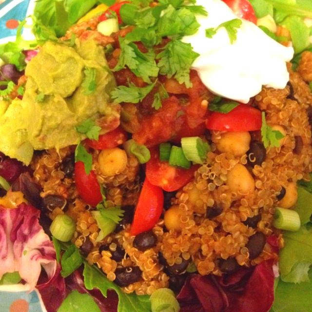 "Quinoa ""taco salad"" 