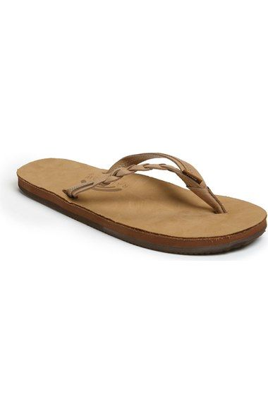 Free shipping and returns on Rainbow 'Flirty' Braided Leather Flip Flop (Women) at Nordstrom.com. An easy flip-flop designed with soft, braided leather straps and a memory foam insole that molds to the shape of your foot for a customized fit.
