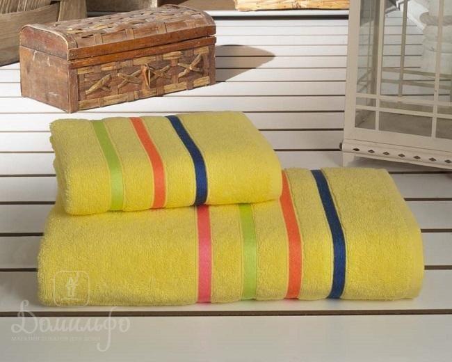 Набор полотенец BALE NEON желтый 50х80 (1шт) и 70х140 (1шт) от Karna (Турция) - купить по низкой цене в интернет магазине Домильфо
