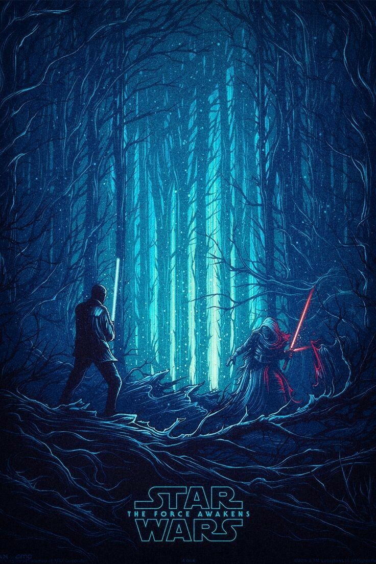 Pin By Allie Smith On Star Wars Star Wars Illustration Force Awakens Poster Star Wars Background