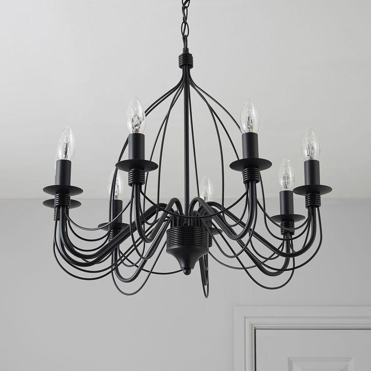 Vas Birdcage Black 8 Lamp Pendant Ceiling Light   Departments   DIY at B&Q