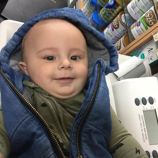 Julian, 6 months came to see me with his mummy, Marisa at Basgers Pharmacy…