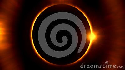 Digital  eclipse  with stars  and  aura