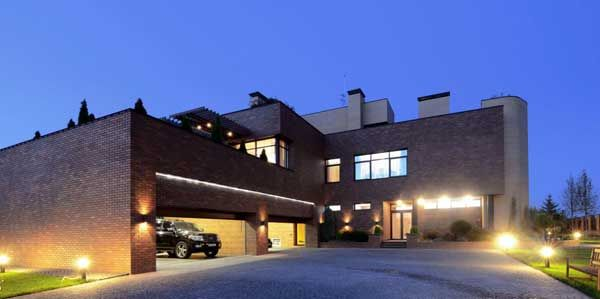 Apartments, Residential House Random Stone Floor Garage Car Fasade Lighting Brick Wall Home Windows Courtyard Lamp Design Architects Sharing Ideas Residence Architectural Natural: Excellent, Kiev Residence Built With Locally Resourced Materials