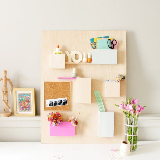 Get back-to-school ready with an update to this Anthropologie inspired DIY Wall…