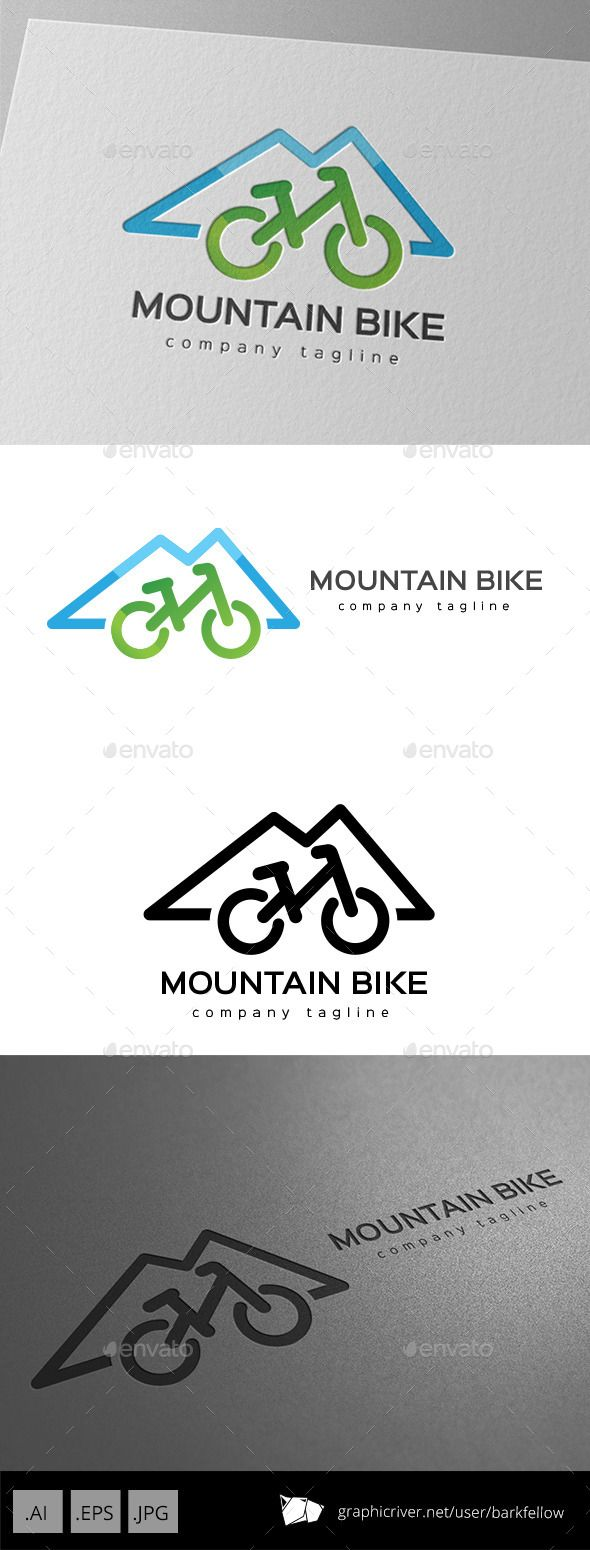 Mountain Bike - Logo Design Template Vector #logotype Download it here: http://graphicriver.net/item/mountain-bike-logo-design/11175699?s_rank=976?ref=nexion