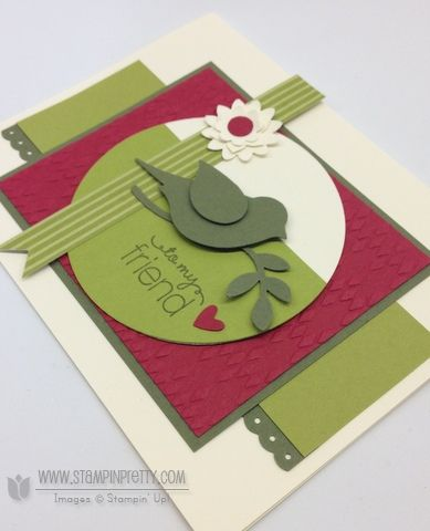 Stampin up stampin up stamp it punch card ideas catalog friend mojo monday demonstrator flower boho