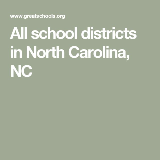 All school districts in North Carolina, NC