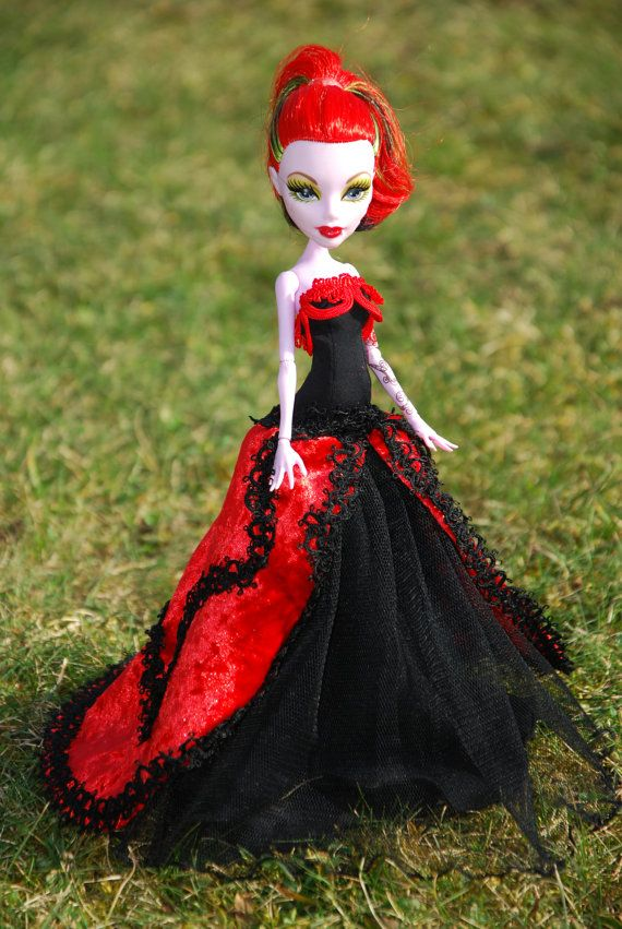 Monster High and Ever After High handmade ball gowns