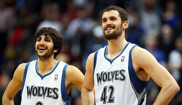Two of our favorite Timberwolves players!  Ricky Rubio and Kevin Love!  #Timberwolves