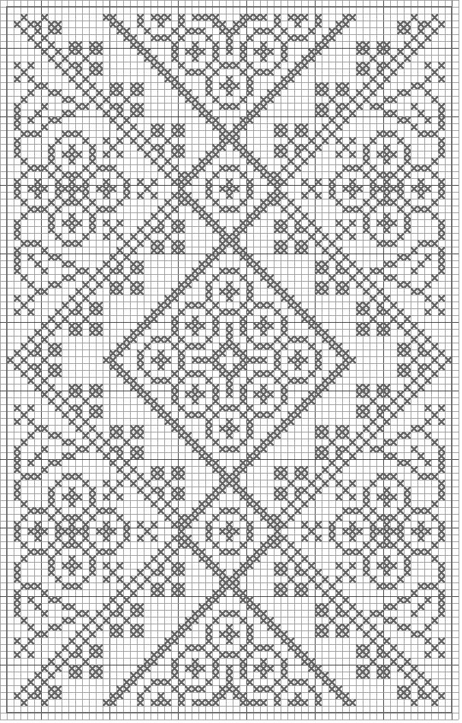 Free crochet chart could be cross stitch >>> Would be a very pretty double-sided knitting pattern!  :)