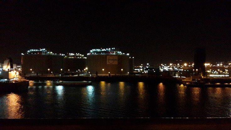 Pemandangan Port of Barcelona di malam hari  #OriflameID #GoldCruiseORIFLAME2014 #dBCNatGoldCruise