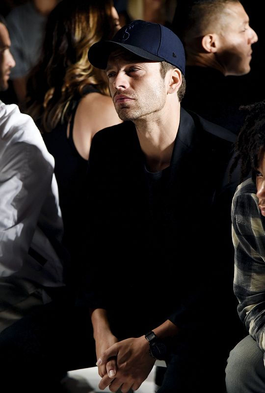 Sebastian Stan at the Todd Snyder's Fashion Show in New York